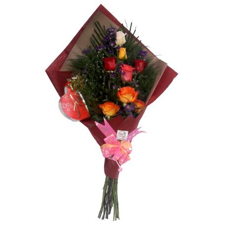 Ramo 22 rosas con peluche