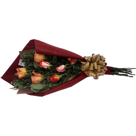 Arreglo de 25 flores en base rustica